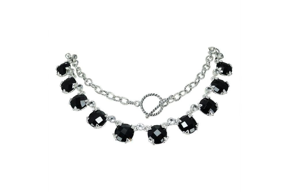 Samuel B NECKLACE Zoe Necklace Black Spinel