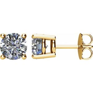 14K Yellow 2 CTW Diamond Earrings