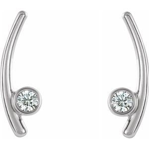Sterling Silver 1/5 CTW Diamond  Ear Climbers