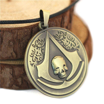 Anime Assassin's Creed Black Flag Necklace - ComicSense