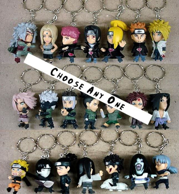 Anime Naruto Characters Keychain (Choose One) - ComicSense
