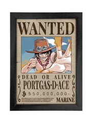 Anime Fire Fist Ace Wanted Bounty Poster - ComicSense