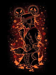 Fire Pistols [+Luffy Smile Face Mask] Anime Half Sleeve T-Shirts by ComicSense