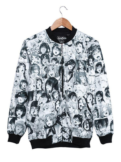 Ahegao Bomber Jacket Anime by ComicSense