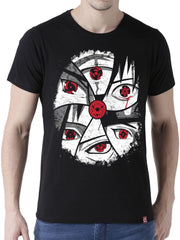 Eye of the Sharingans Anime Half Sleeve T-Shirts by ComicSense