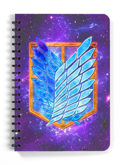 Anime Wings of Freedom Spiral Notebook - ComicSense