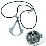 Anime Assassin's Creed Necklace & Ring Set - ComicSense