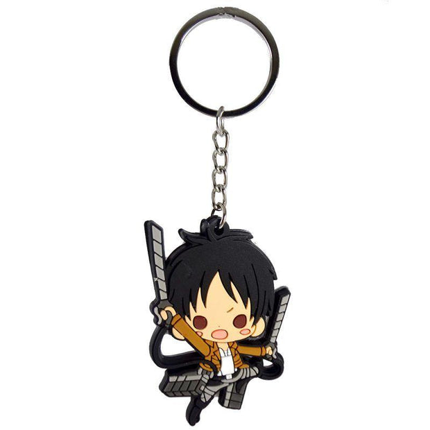 Anime Eren Yeager Double Sided Keychain - ComicSense