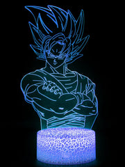 Anime Goku SS Led Night Lamp (Multi Color) - ComicSense
