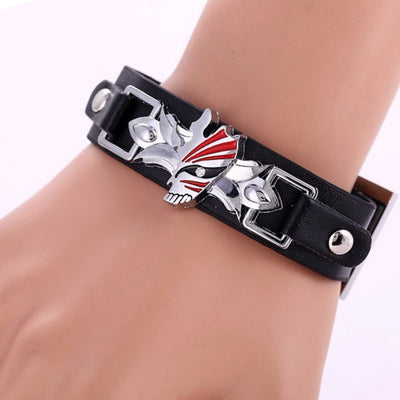 Anime Ichigo Mask Leather Bracelet - ComicSense