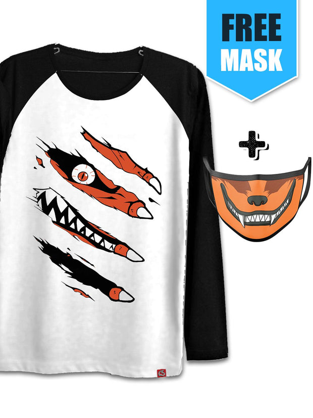 Anime Kurama Inside (Full Sleeves) [+Kurama Face Mask] - ComicSense