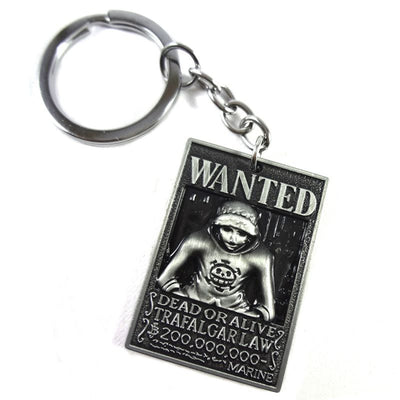 Anime Trafalgar Law Wanted Poster Keychain - ComicSense
