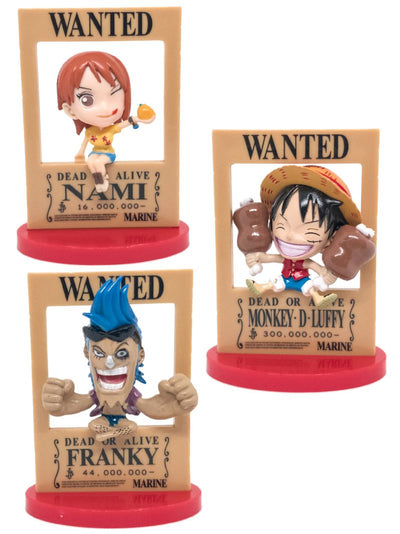 Anime Luffy, Nami, Franky Chibi Wanted 3d Posters Figure - ComicSense
