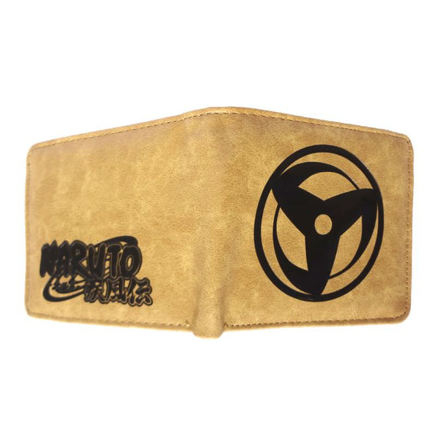 Anime Kakashi Mangekyou Sharingan Wallet (Brown) - ComicSense