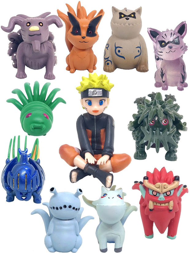 Anime Naruto & Tailed Beasts Chibi Figure Set - ComicSense