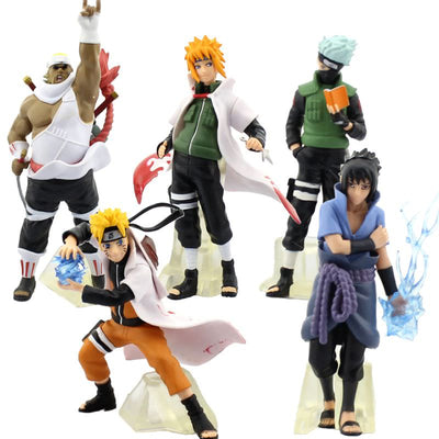 Naruto, Kakashi, Minato, Sasuke, Bee Action Figure (Choose One) Anime Figurines by ComicSense