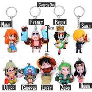 Anime One Piece Luffy, Sanji, Zoro, Usopp, Nami, Robin, Franky, Brook, Chopper Keychain (Choose One) - ComicSense