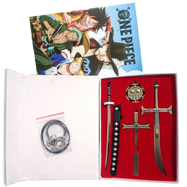 Anime One Piece Weapons Keychain & Necklace Set - ComicSense