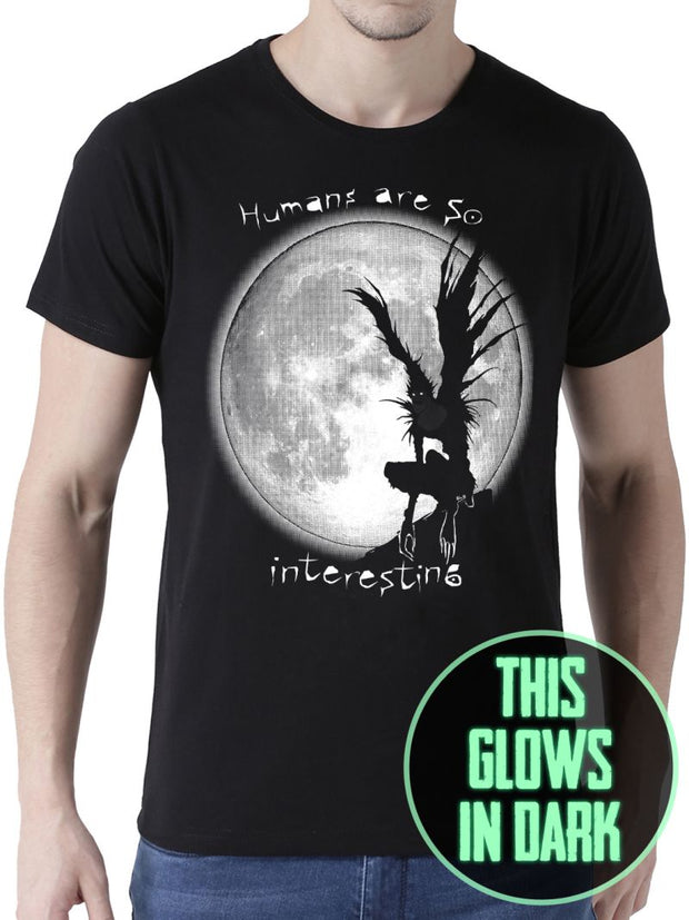 Humans are so interesting (Glow In Dark) Anime Half Sleeve T-Shirts by ComicSense