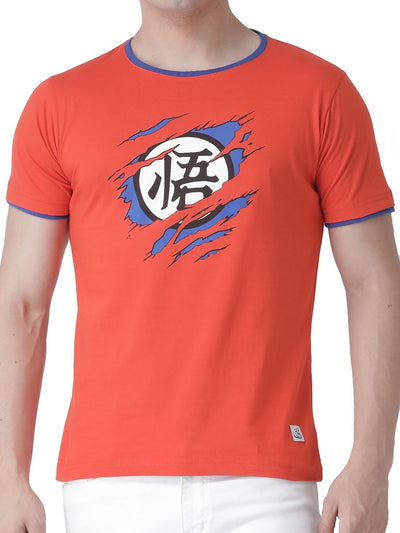 Anime Saiyan Inside (Orange Half Sleeve) - ComicSense