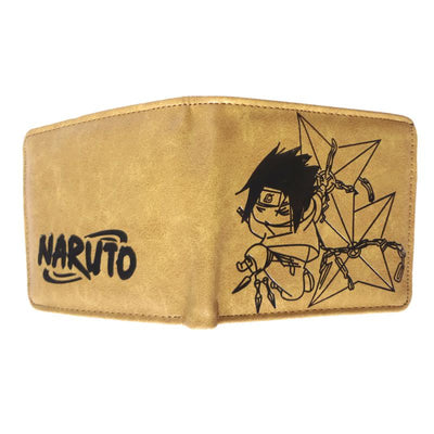 Anime Sasuke Wallet (Brown) - ComicSense