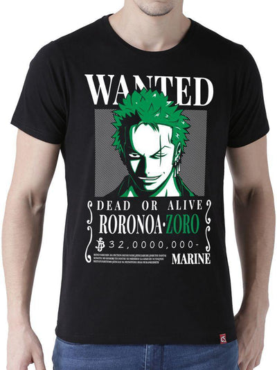 Anime Wanted Zoro (Half Sleeve) - ComicSense