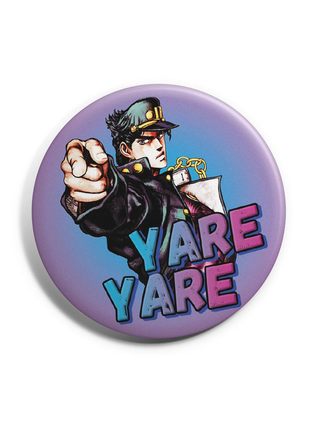 Anime Yare Yare Badge - ComicSense