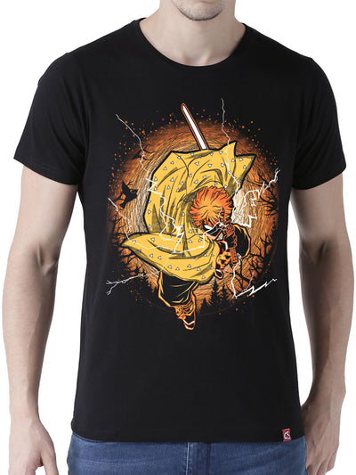 Thunderclap Flash Anime Half Sleeve T-Shirts by ComicSense