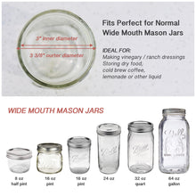 Load image into Gallery viewer, 4 Pack of Flip Cap Mason Jar Lid with Leak-proof & Airtight Seal and Easy Pour Spout - Wide Mouth