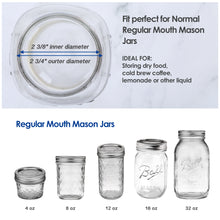 Load image into Gallery viewer, 6 Pack of Flip Cap Mason Jar Lids with Leak-proof & Airtight Seal and Easy Pour Spout - Regular Mouth