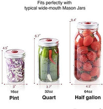 Load image into Gallery viewer, Fermentation Kit for Wide Mouth Mason Jars, 4 Glass Weights, 4 Lids,1 Pump, 6 Ferment Record Labels & Recipe Book