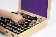 Load image into Gallery viewer, 72 Bottle Wooden Essential Oils Storage Box with Handle, 64 Slot for 5-15ml Essential Oils & 8 Slot for 10ml Roller Bottles