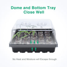 Load image into Gallery viewer, 4 Set Strong Greenhouse Trays with Humidity Dome and Pellet Holder for 30mm, 36mm & 42mm Peat Pellets, Holds 100 Pellets in Total, Seed Starting, Germinating Seedling Propagating, Pellets Not Included