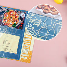 "Load image into Gallery viewer, Full Page Recipe Binder Organizer Kit with 60 4""x6"" Recipe Cards, 30 Page Protectors, 12 Tabbed Dividers and 24 Labels, 11.5"" X 11"", for Collecting Your Favorite Recipes"