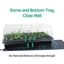 Load image into Gallery viewer, 2 Set 60-Cell Seed Starter Kit - Strong Seed Trays with Humidity Domes, Cell Trays and Seedling Heat Mats - Cloning, Propagation and Germination Station