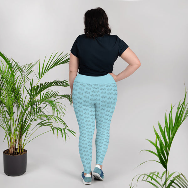 Barred Owl Press + Kirsten Kramer roses plus-size leggings