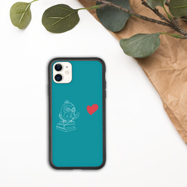 Funda biodegradable para iPhone de Barred Owl Press en azul