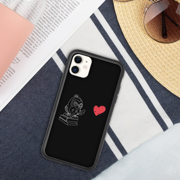 Barred Owl Press biodegradable iPhone case in black