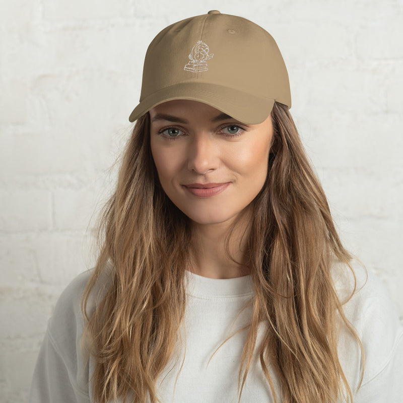 Barred Owl Press classic cap in original white