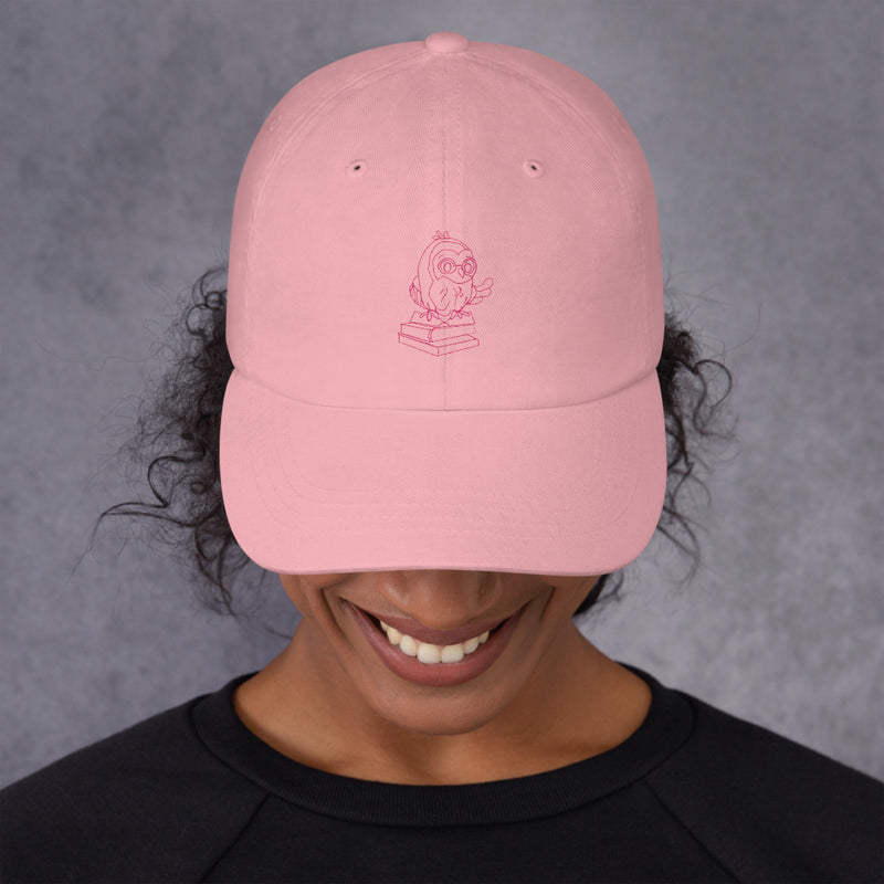 Barred Owl Press classic cap in pink