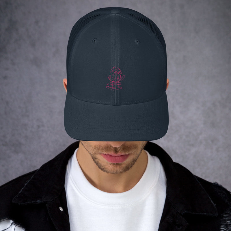 Barred Owl Press : casquette de camionneur rétro en rose