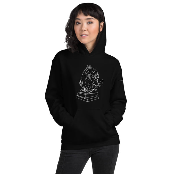 Barred Owl Press unisex hoodie in white