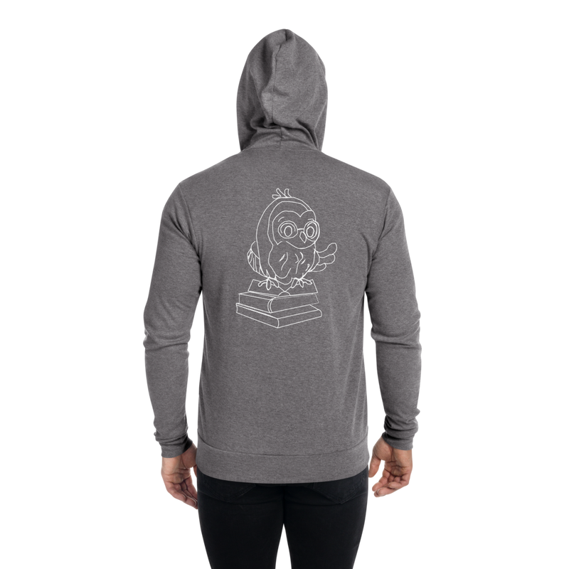 Sudadera con cremallera unisex de Barred Owl Press