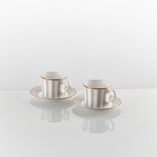 The Signature Espresso Cup and Saucer Grey