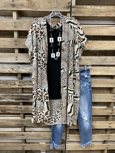 Autumn 2021 Fashion Animal Print Kimono