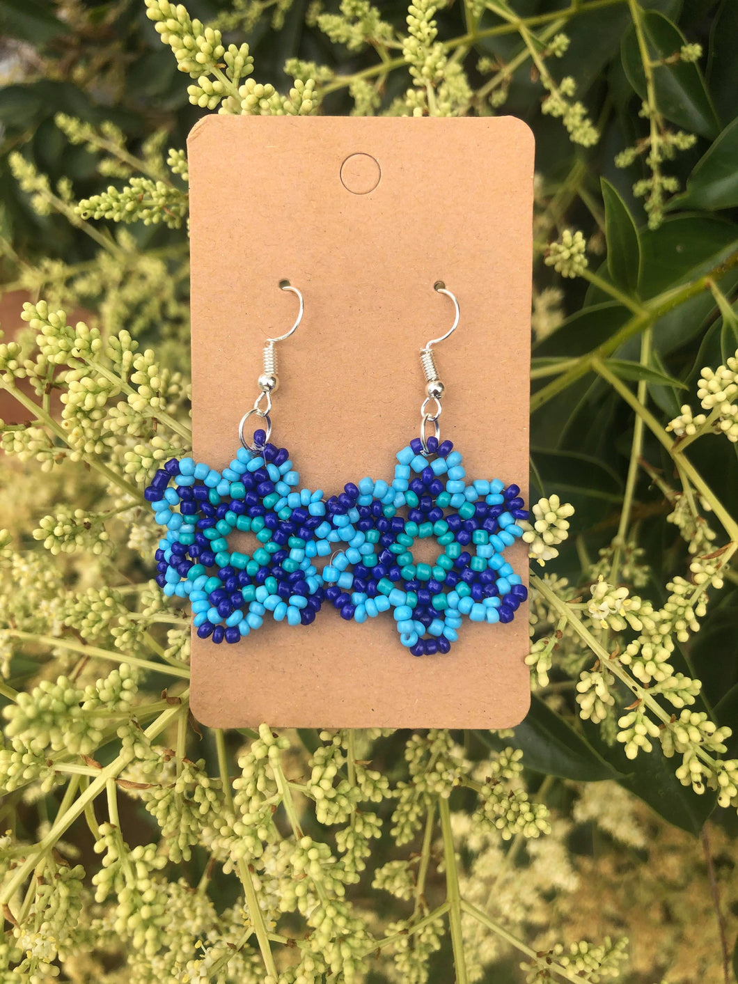 Blue Beaded Flowers