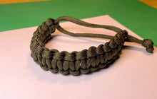 Load image into Gallery viewer, Olive Green Paracord Bracelet