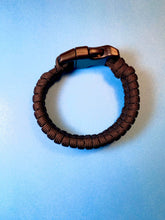 Load image into Gallery viewer, Black Paracord Bracelet