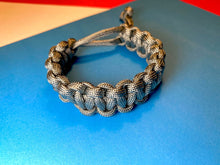 Load image into Gallery viewer, Gray Paracord Bracelet