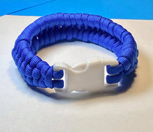 Load image into Gallery viewer, Dark Blue Paracord Bracelet